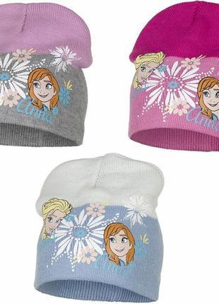 Демисезонная шапка с анной и эльзой, холодное сердце для девочки, disney / frozen