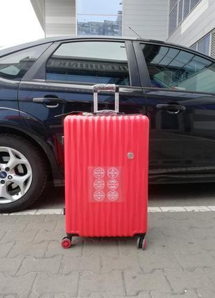 Польский🇵🇱 оригинальный продивоударный крепкий чемодан усилен карбоновой пленкой