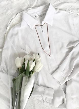 Базовая белая рубашка овер сайз 🕊