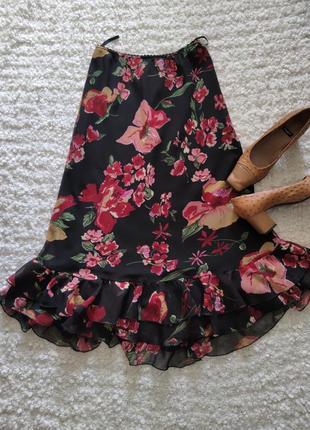 Шыфоновая юбка з рюшами1 фото