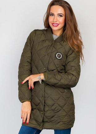 Демисезонная куртка (пальто) цвета хаки