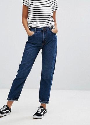 Базовые  / мом/ укороченные джинсы / slim  от бренда authentic denim-100 %котон/size 32