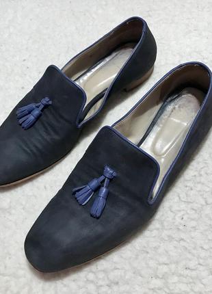 Лоферы слипоны мокасины туфли кожаные hobbs (италия)
