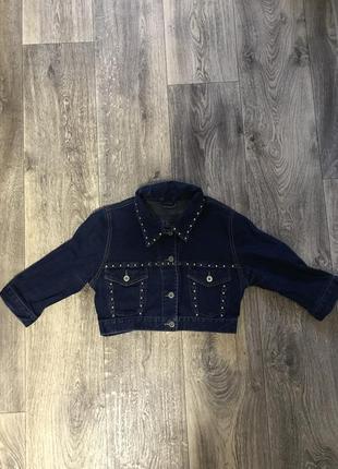 Короткий джинсовый пиджак до 19.03 скидка джинсовка