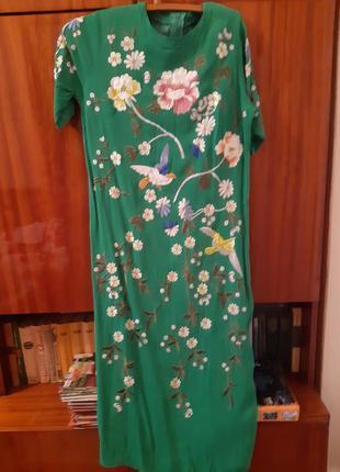 Роскошное платье ручная вышивка