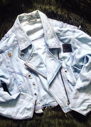 Винтажная джинсовая косуха