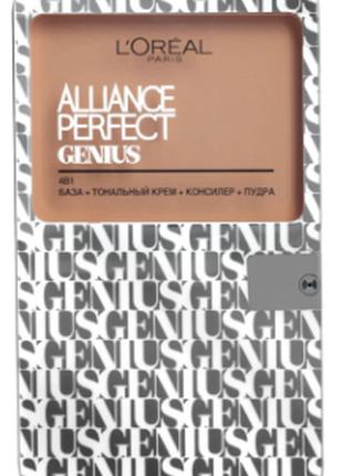 База + тональный крем + консиллер + пудра l'oreal paris alliance perfect genius