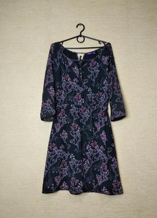 Шифоновое цветочное  платье сукня  с рукавами 3/4 mexx