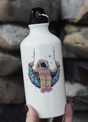 Бутылка спортивная металлическая с космонавтом
