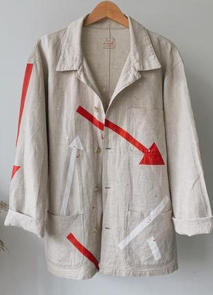 Куртка-рубашка с абстрактными рисунками #розвантажуюсь