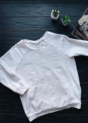 Базовый белый свитшот ostin