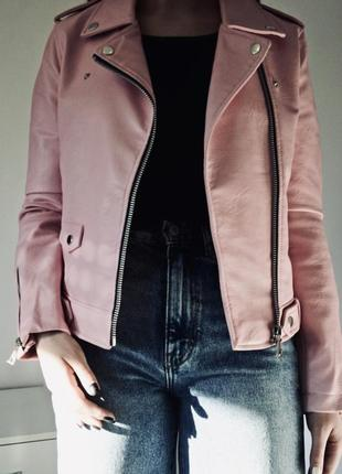 Куртка из искусственной кожи mango