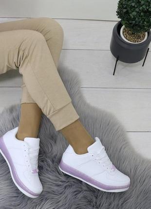Кроссовки белые ботинки кеды найк кожаные эко кожа женские