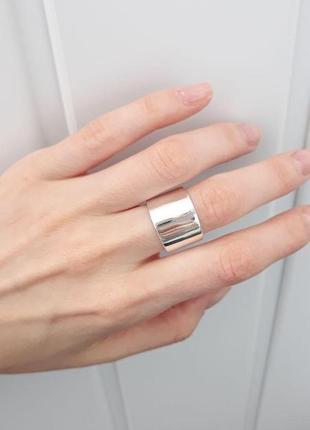 Большое серебряное кольцо, серебро 925 пробы
