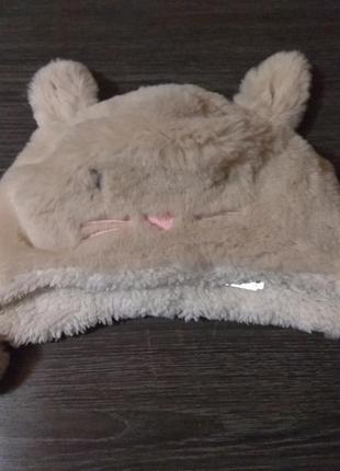 Меховая детская шапка на 1-3 года