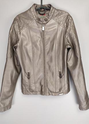 Фирменная куртка из кожзама