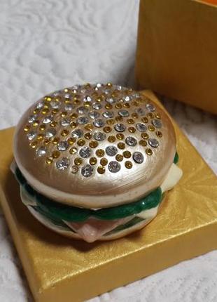 #розвантажуюсь шкатулка гамбургер со стразами сувенир