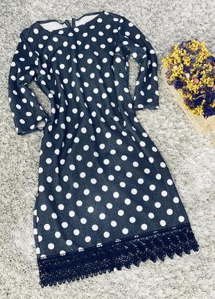Женское платье в горох в наличии