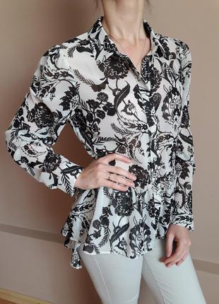 Шифонова блуза з цікавим кроєм від miss selfridge з цінником