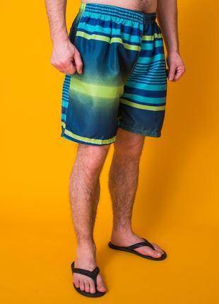 Мужские пляжные шорты синие