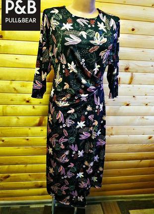 Великолепное платье   испанского бренда pull& bear в цветочный принт, пр-во португалия.
