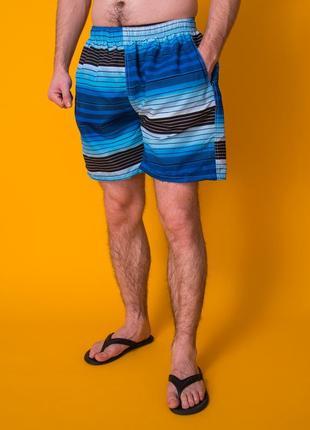 Пляжные мужские шорты синие