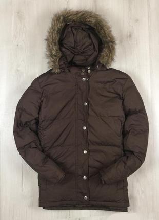 N8 f9 женский пуховик на пуху gap куртка парка гусиный пух мех гап
