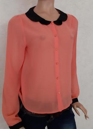 Блузка нарядная коралловая