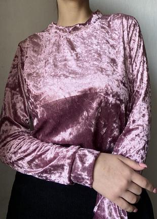 Кофта вельветовая фиолетово-розовая