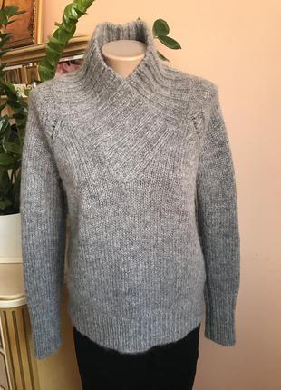 Фирменный шерстяной свитер с высоким горлом от burberry brit s оригинал мохер/шерсть