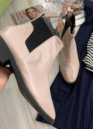 Ботинки сапожки челси пудра