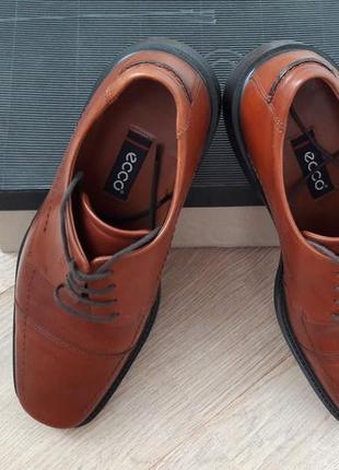 Фирменные ботинки туфли новые, р. 43 ecco мужские