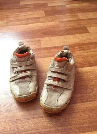 Кожаные кроссовки кеды нат кожа и замш primigi