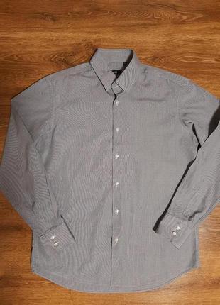 Базовая классическая рубашка в мелкую клетку
