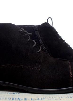 Зимние туфли из натуральной замши на овчине.