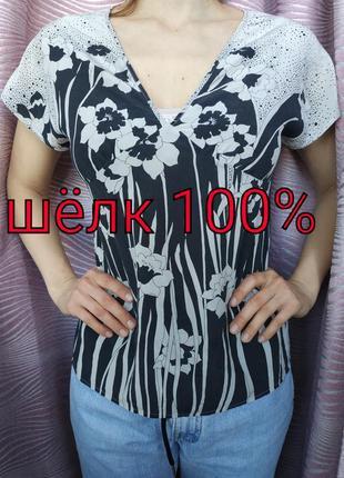 Натуральная шелковая блуза warehouse, 10,38