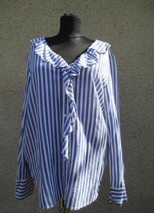 Полосатая блузка  из легкой ткани
