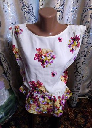 Очень красивая блуза с цветочным принтом river island