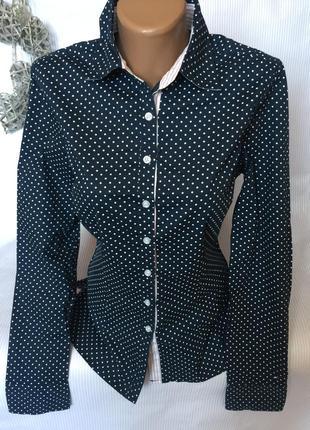 Стильная рубашка в горошек tommy hilfiger