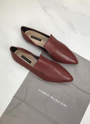 37/36 р бордовые туфли лофер fabio rusconi original