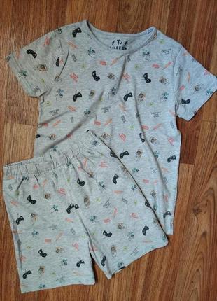 Летняя хлопковая пижама на 9-10 лет
