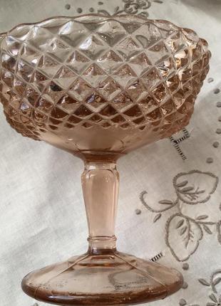 Креманка🏺 карамельное марганцевое стекло винтаж
