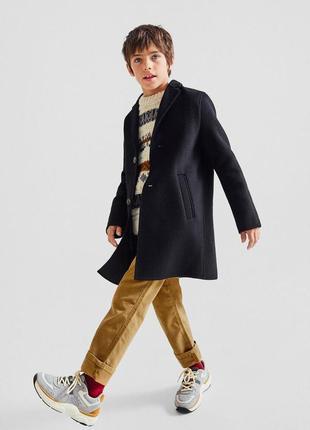Шерстяное пальто zara, размер 12 лет