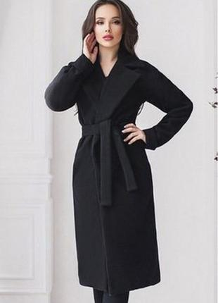 Пальто осеннее-весеннее теплое до колена классическое