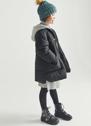 Длиная куртка zara, унисекс. размер 10 и 12 лет