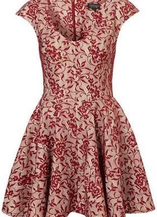 Очень красивое платье с красивой гипюровой текстурой от topshop рр 8 наш 42
