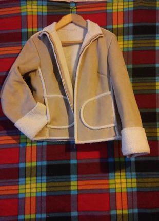 Куртка next на искусственной овчине