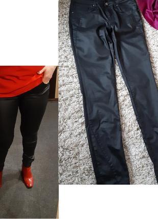 Стильные джинсы/скинни  под кожу , eksept by shoeby ,p. 10-12