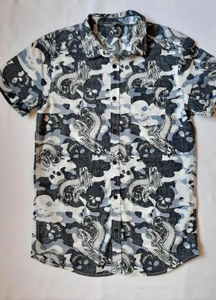 Рубашка для мальчика летняя 10\140