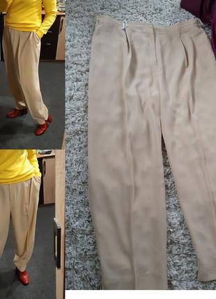 Базовые светлые брюки батального размера, р. 52-56